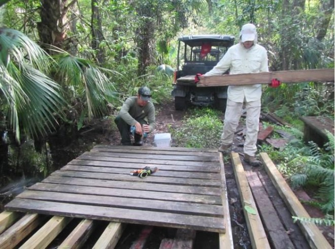 Volunteers travel deep into the strand to maintain trails and repair bridges. A dedicated vehicle will help them keep Fakahacking!