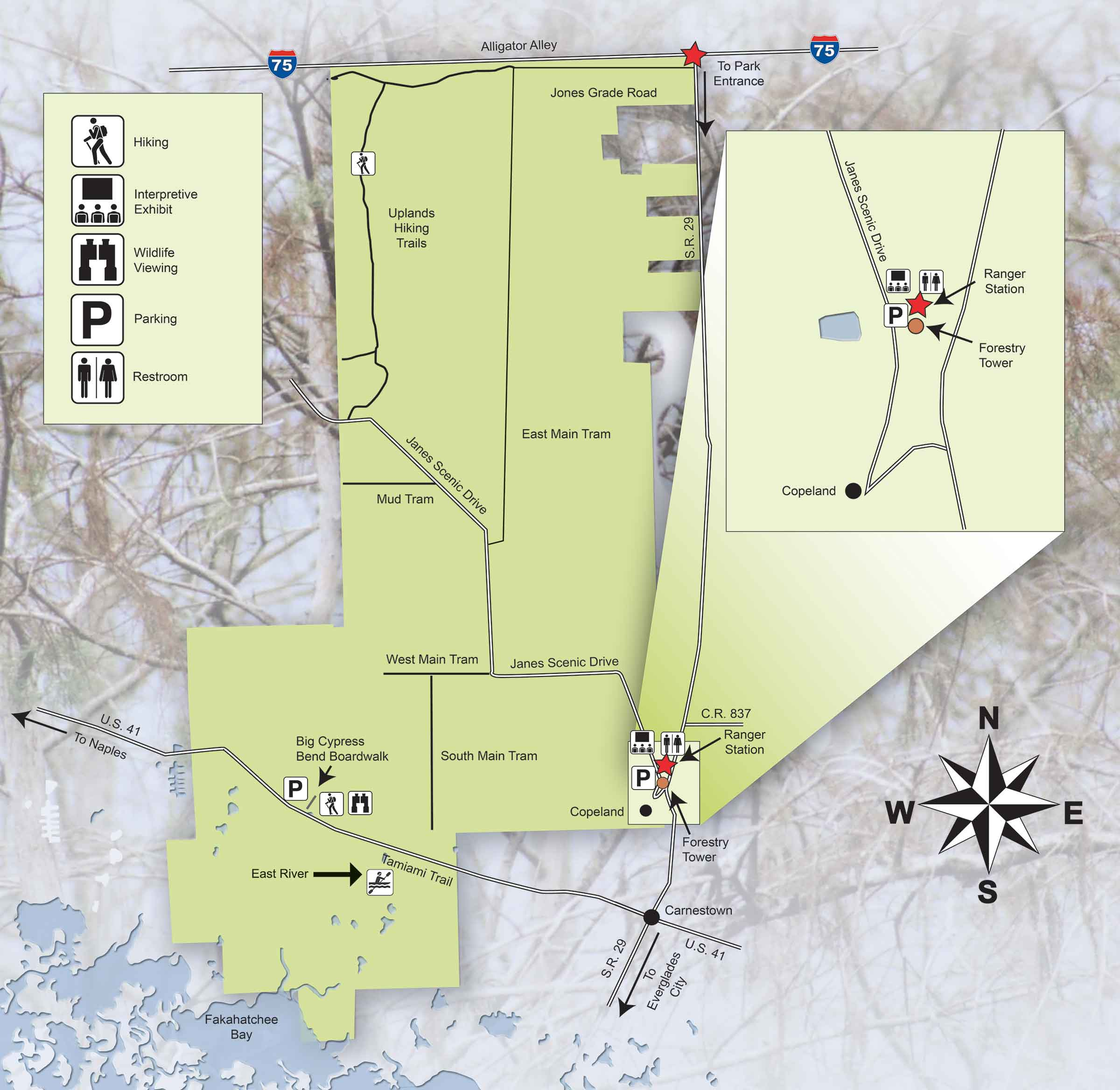 Hiking and Biking the StrandFriends of Fakahatchee on orienteering map, hiking tours, hiking trail, following a map, trail map, hunting map, space exploration map, hiking tracks, nature map, places to go map, hiking tips,